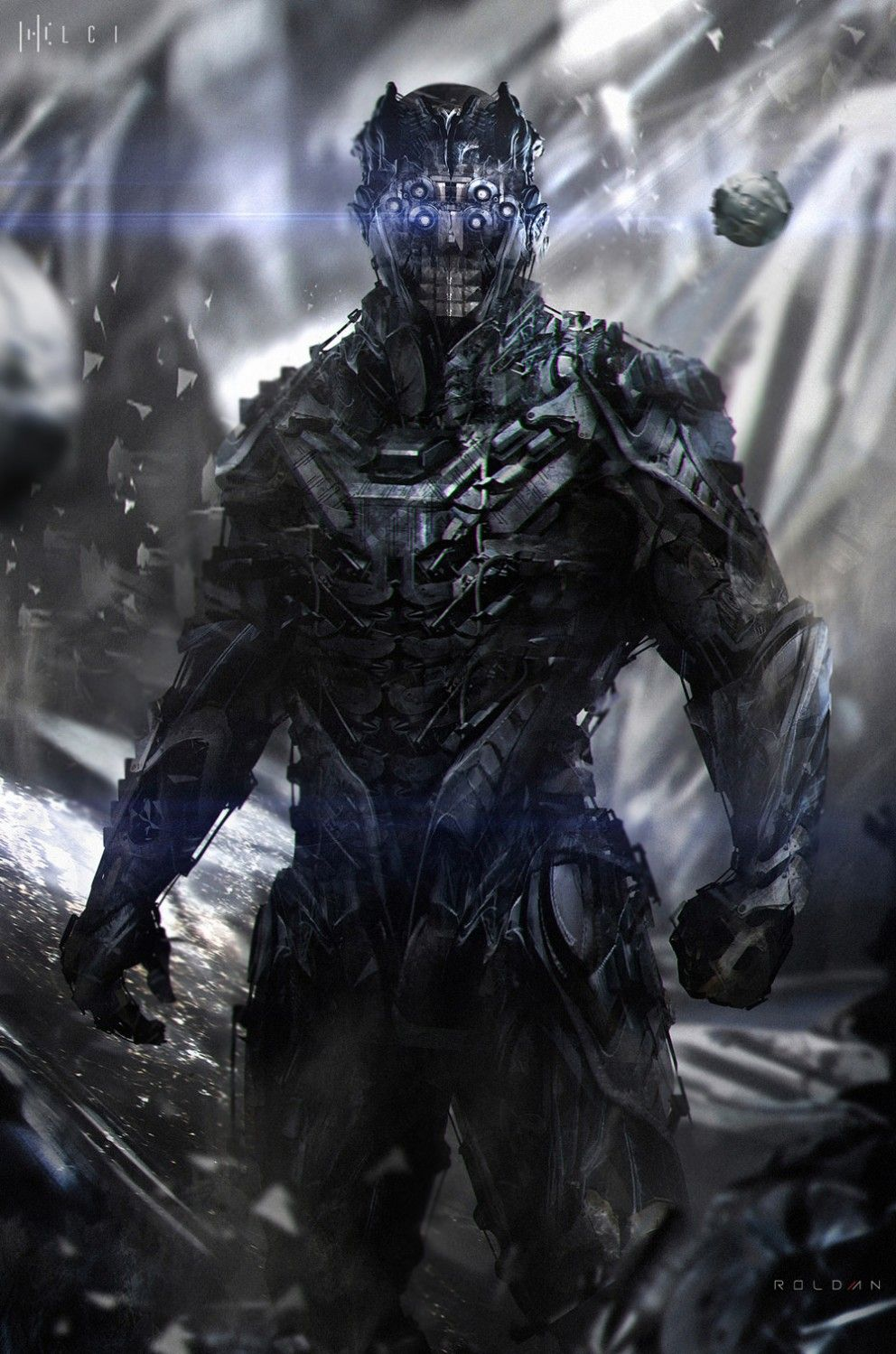 sci-fi art: space-soldier - 2d digital, sci-ficoolvibe – digital