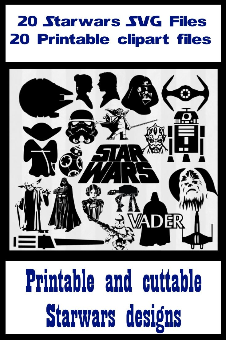 Star wars svg files for silhouette cameo. star wars svg