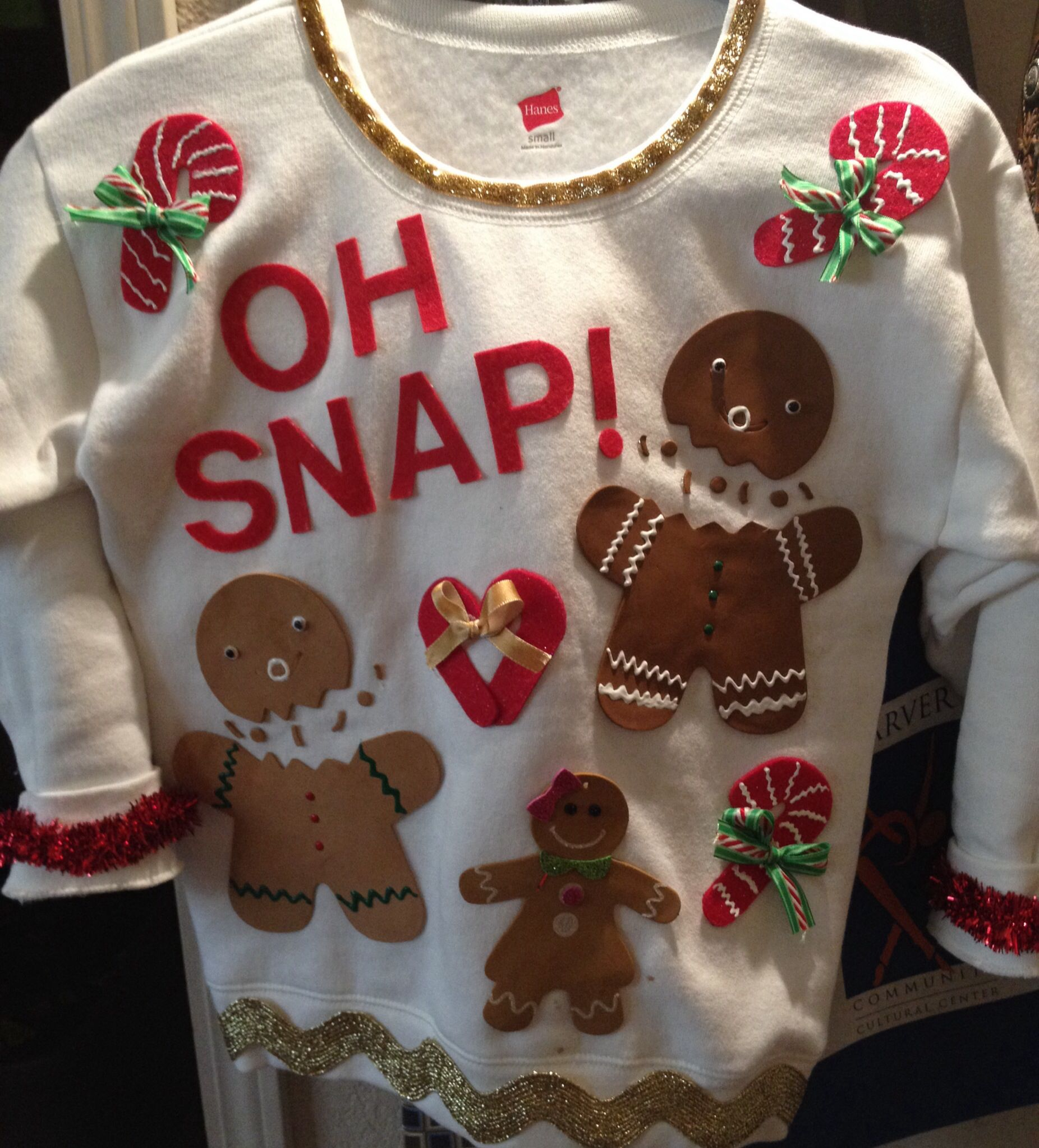 Ugly Christmas Sweater idea Purchased sweatshirt at