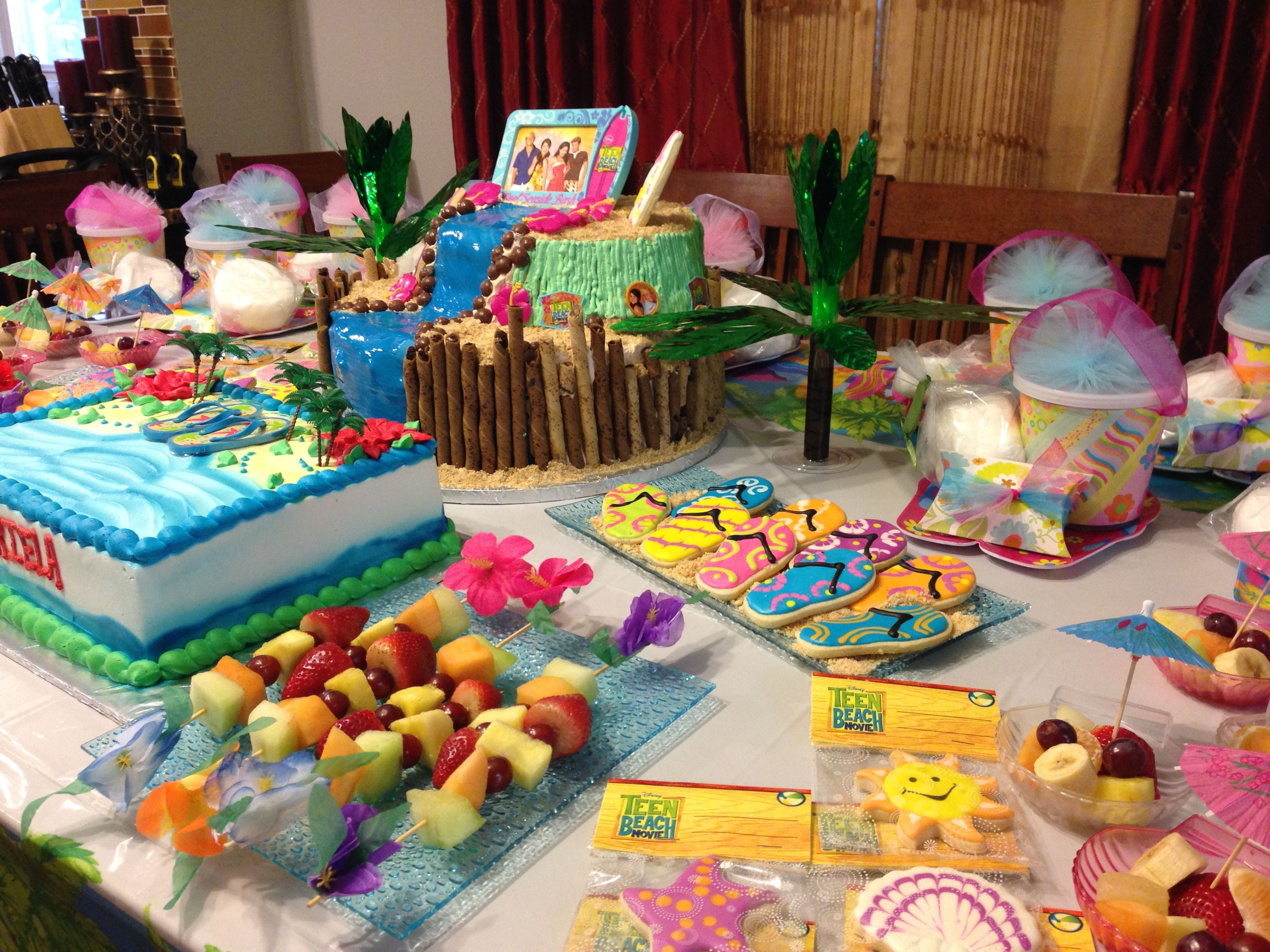 Teen Beach Movie Party Table Decoration