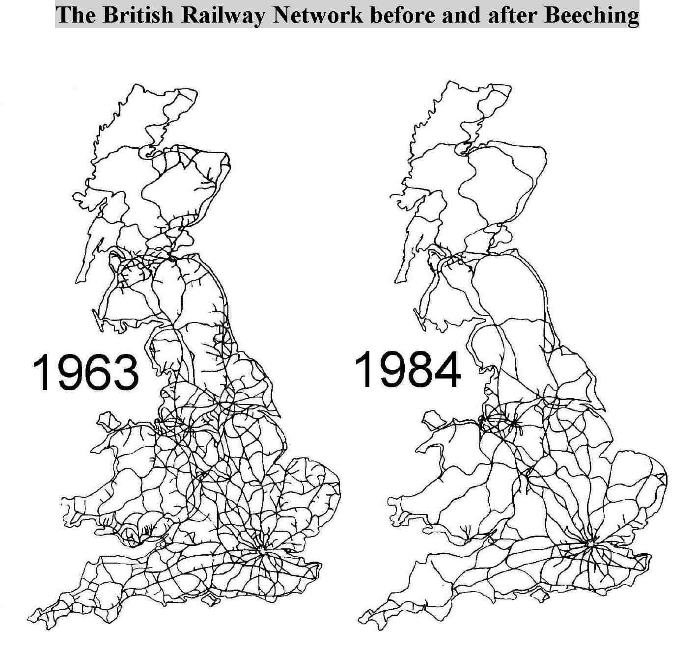 Britain S Train Network Before And After Beeching