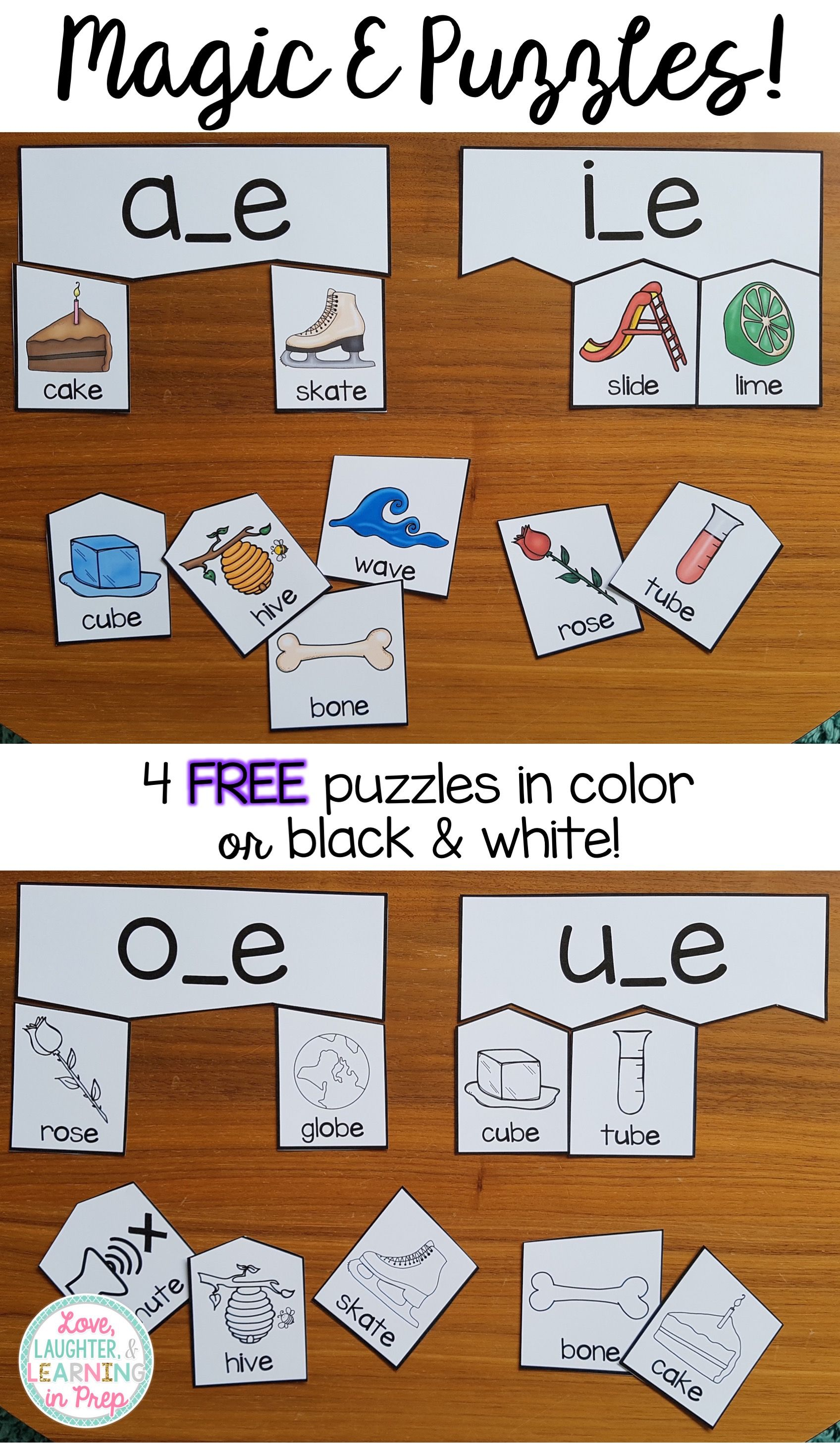 Free Magic E Puzzles Hands On Phonics Fun For Little
