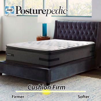 Sealy Posturepedic Plus Series Charter Pointe Cushion Firm Euro Pillowtop King Mattress Set