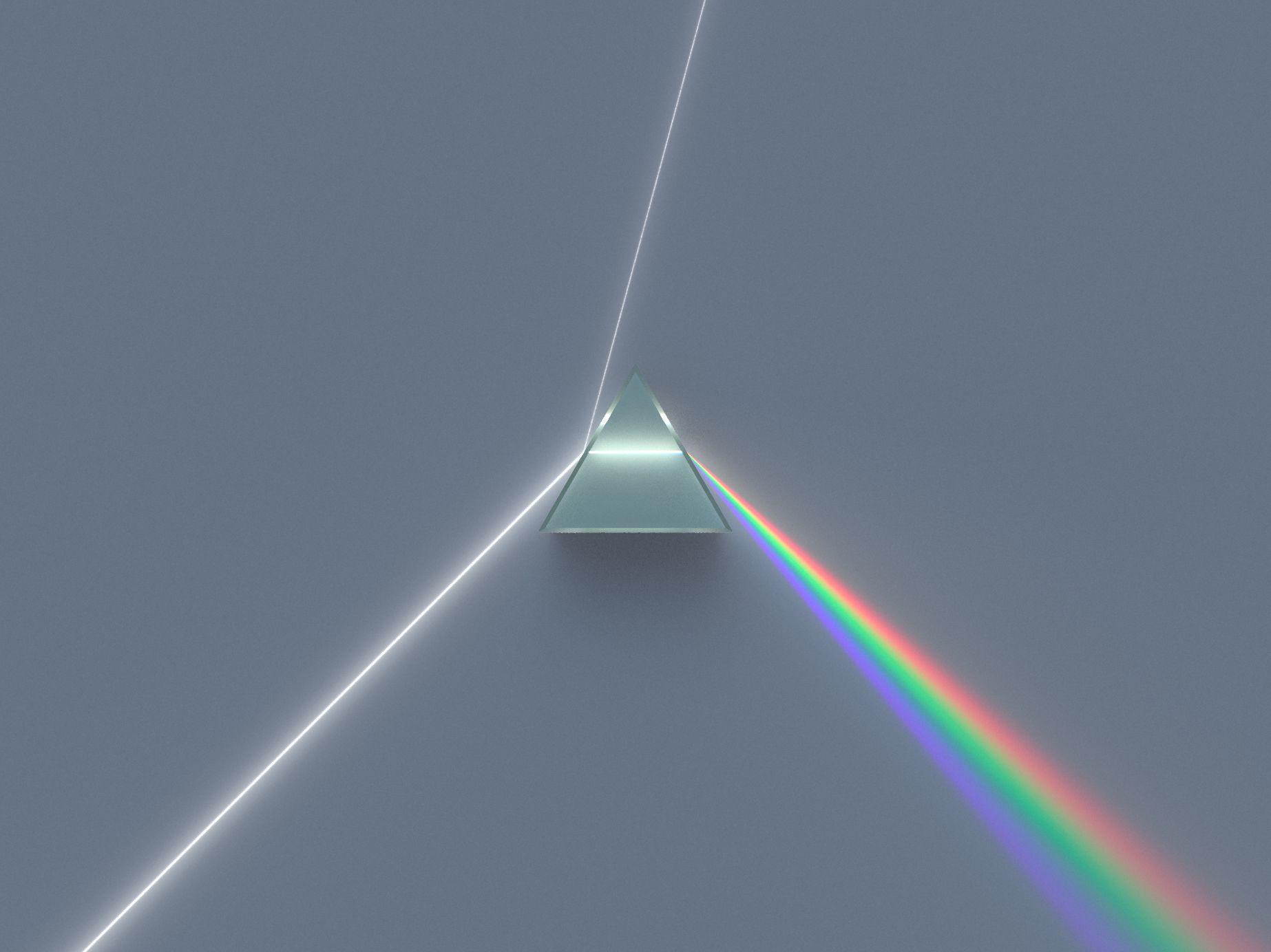Wit Licht Wordt Door Een Prisma Gebroken In De Verschillende Kleurgolven We Zien De Kleur Van