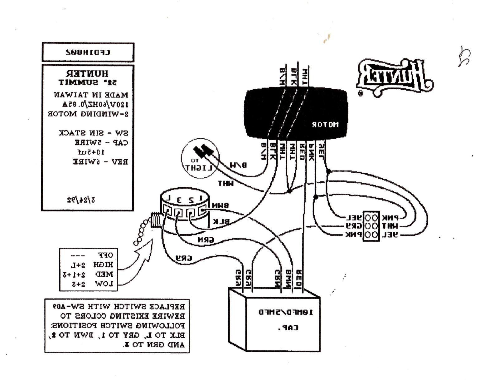 Hunter Fan Light Kit Wiring Schematic