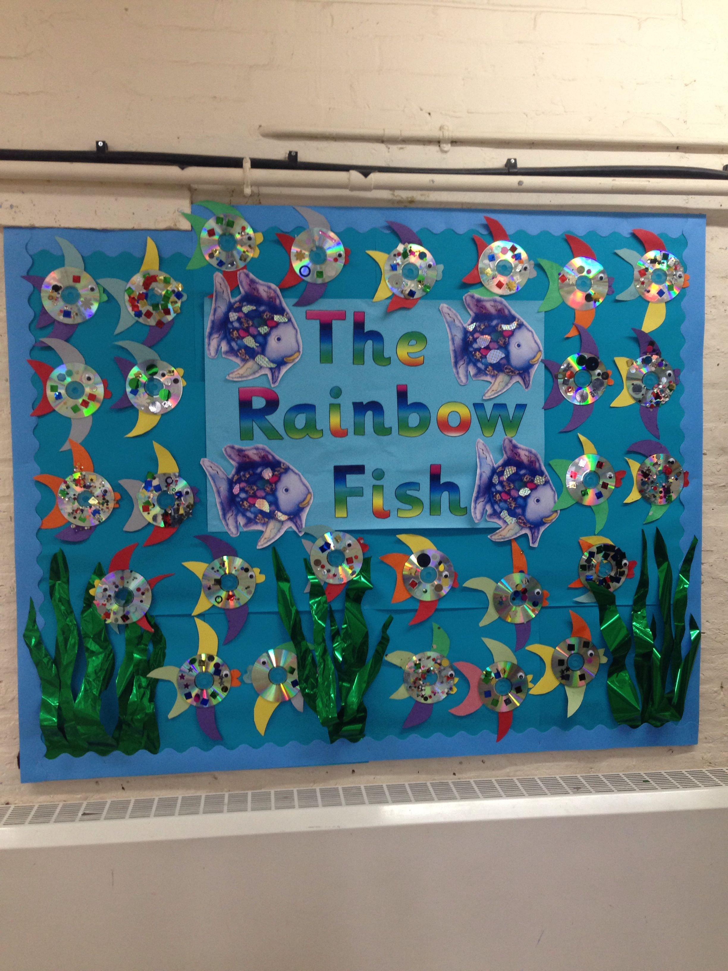 Our Rainbow Fish Display Made With Cd S
