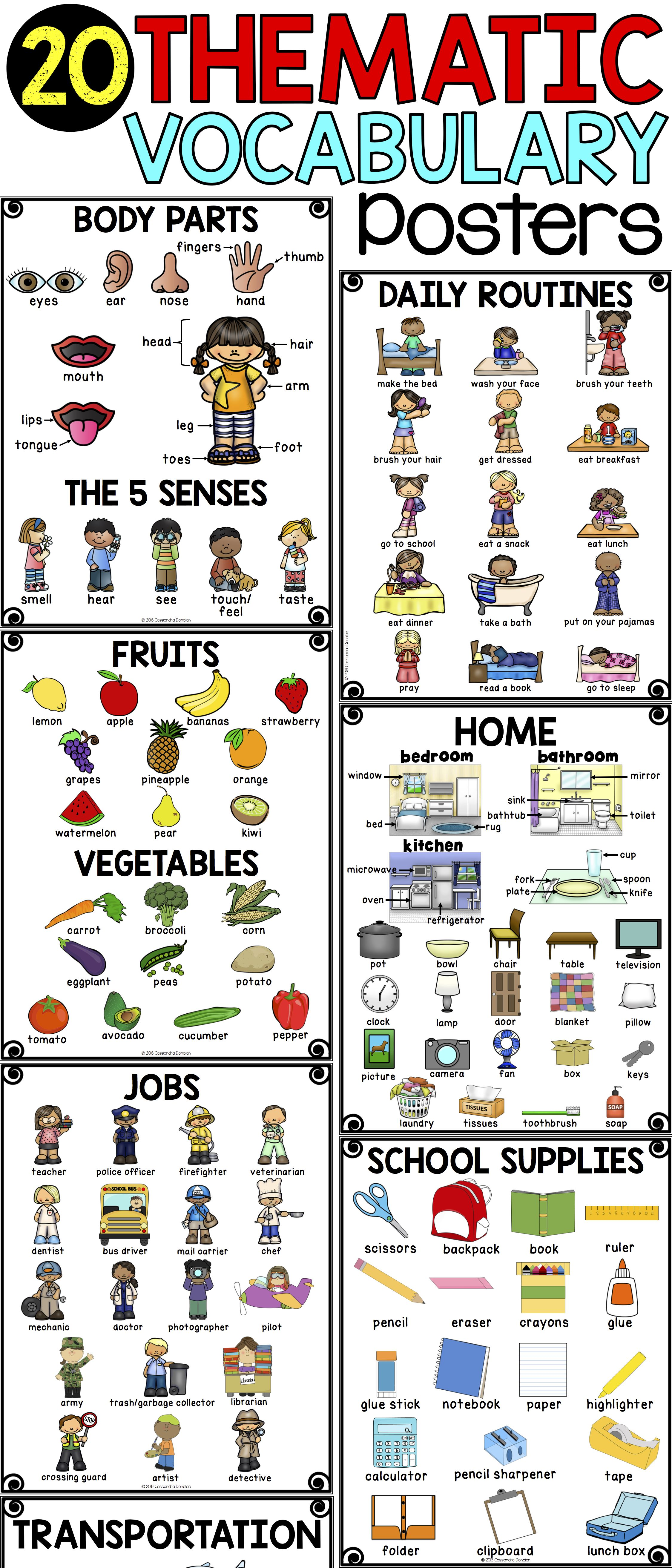 Thematic Vocabulary Posters