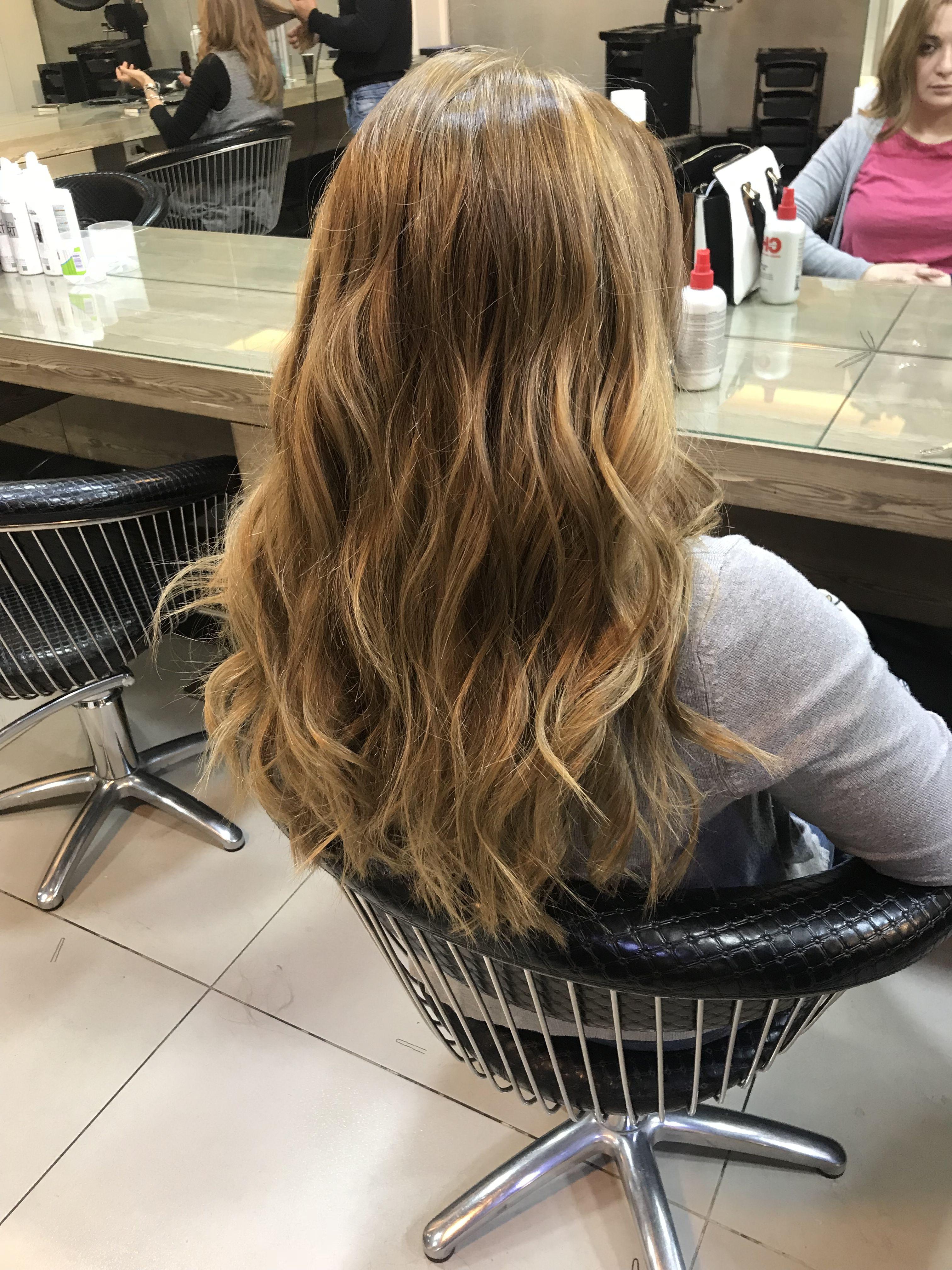 Full balayage hair Color By rafidaham haircoloring