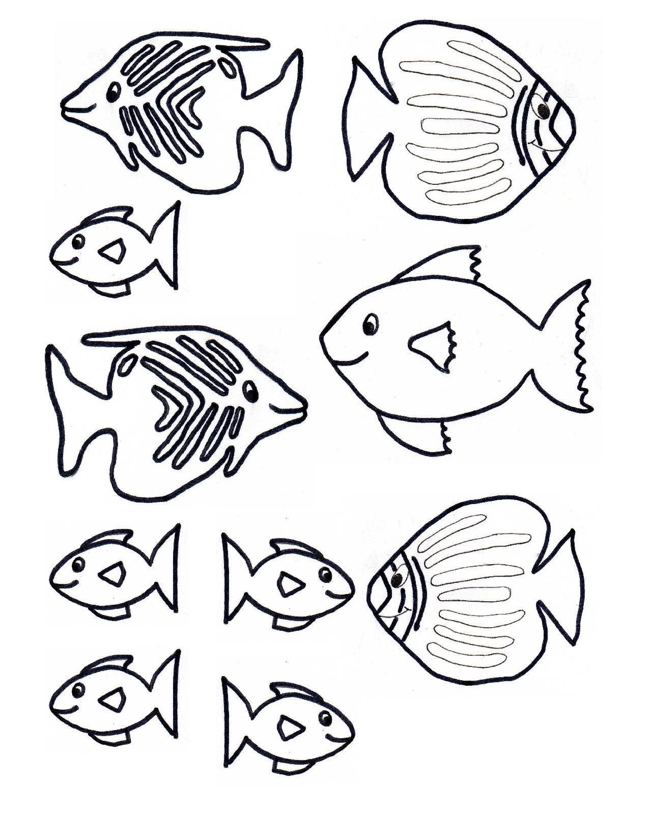 Fish Template Free Craft Underwater Kids Scene 1 1 275