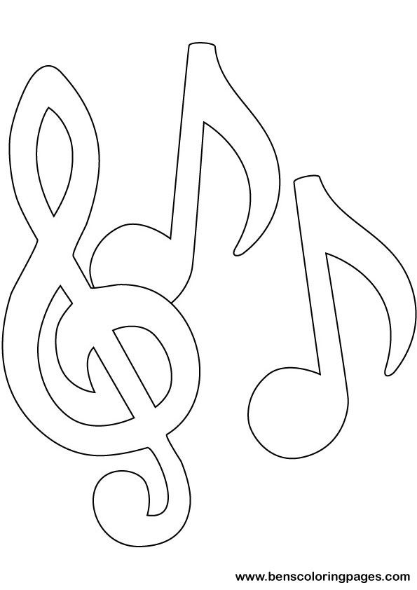 music notes note and coloring on pinterest
