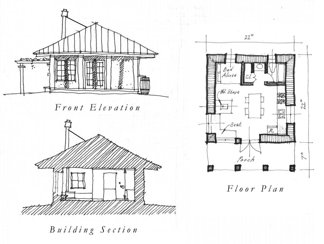 One Room House Plans Free Plan