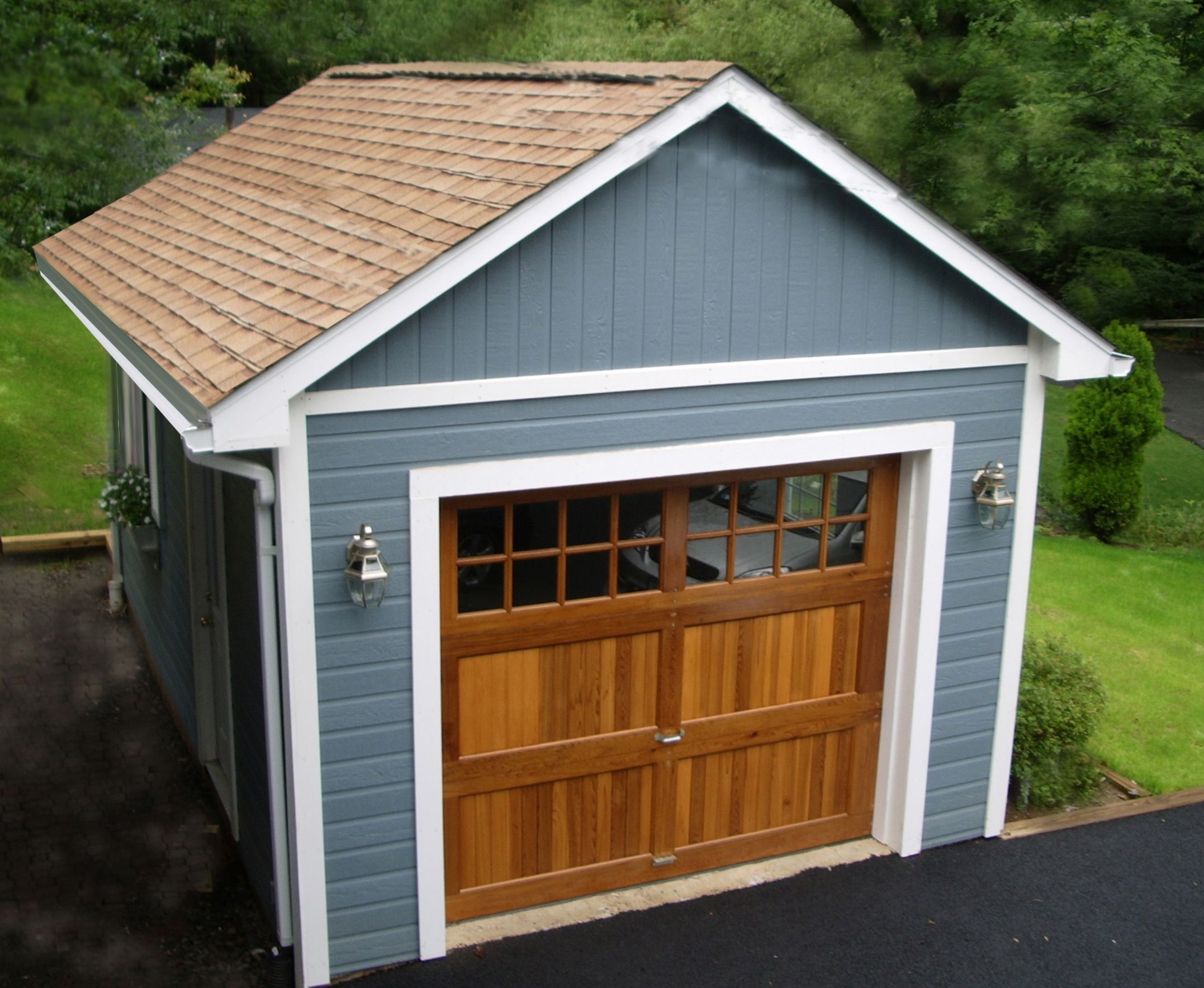 Mix and match a beautiful cedar garage door and some