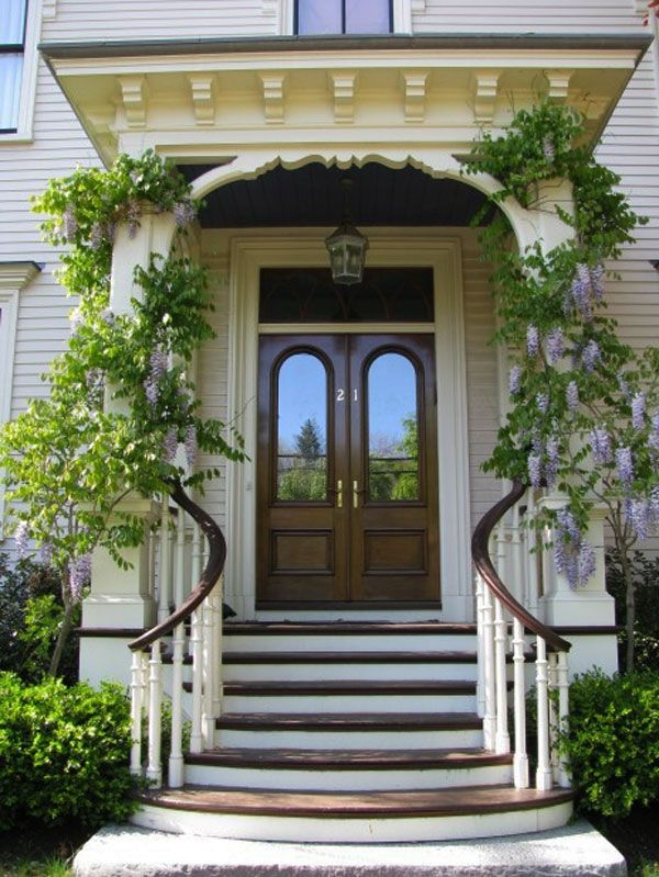 30 Inspiring Front Door Designs Hinting Towards A Happy   Front House Stairs Design