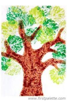 Image result for leaf print paint for kids