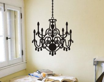 Chandelier Decal Vinyl Wall By Vgwalldecals