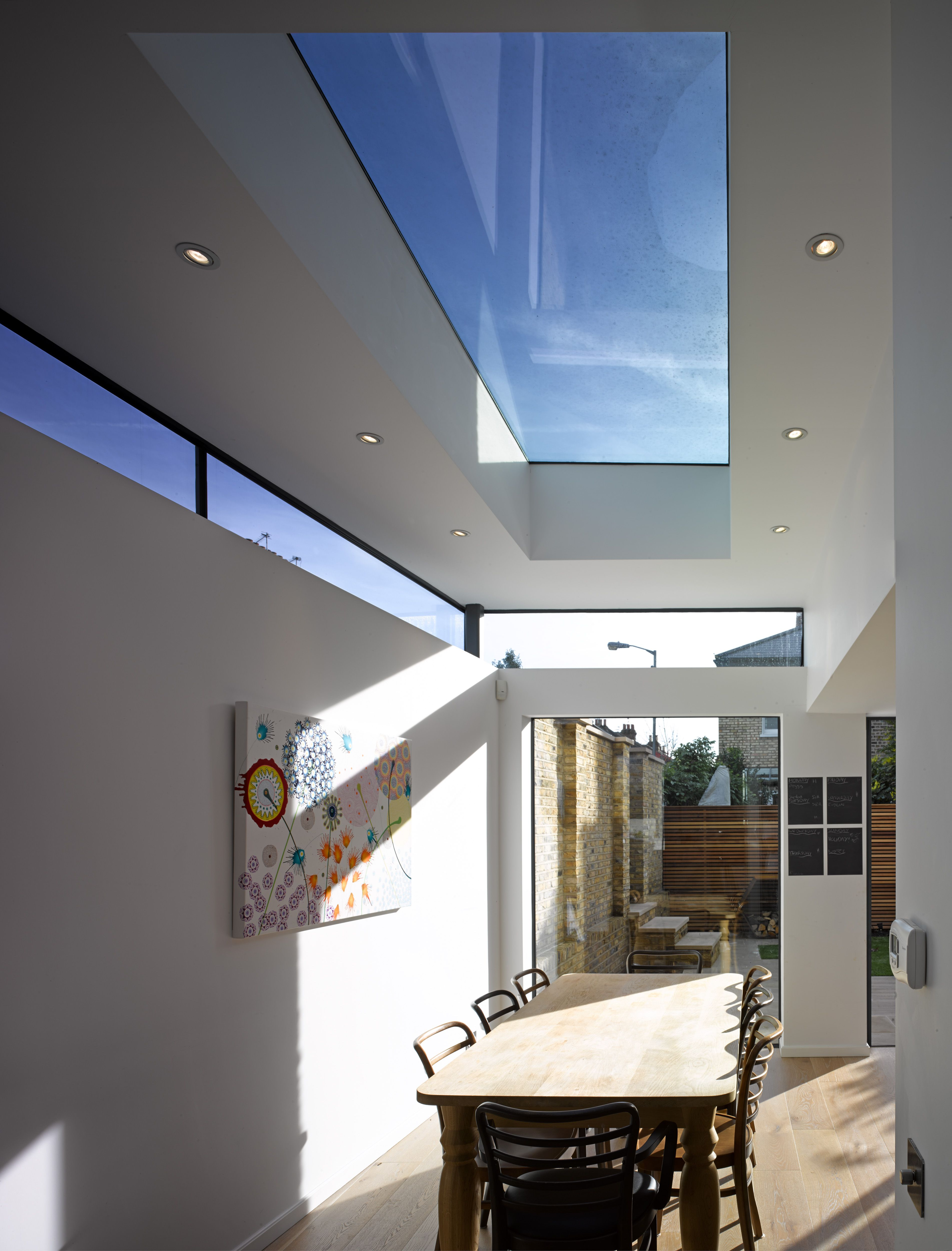 Another flat roof extension with roof light and high level