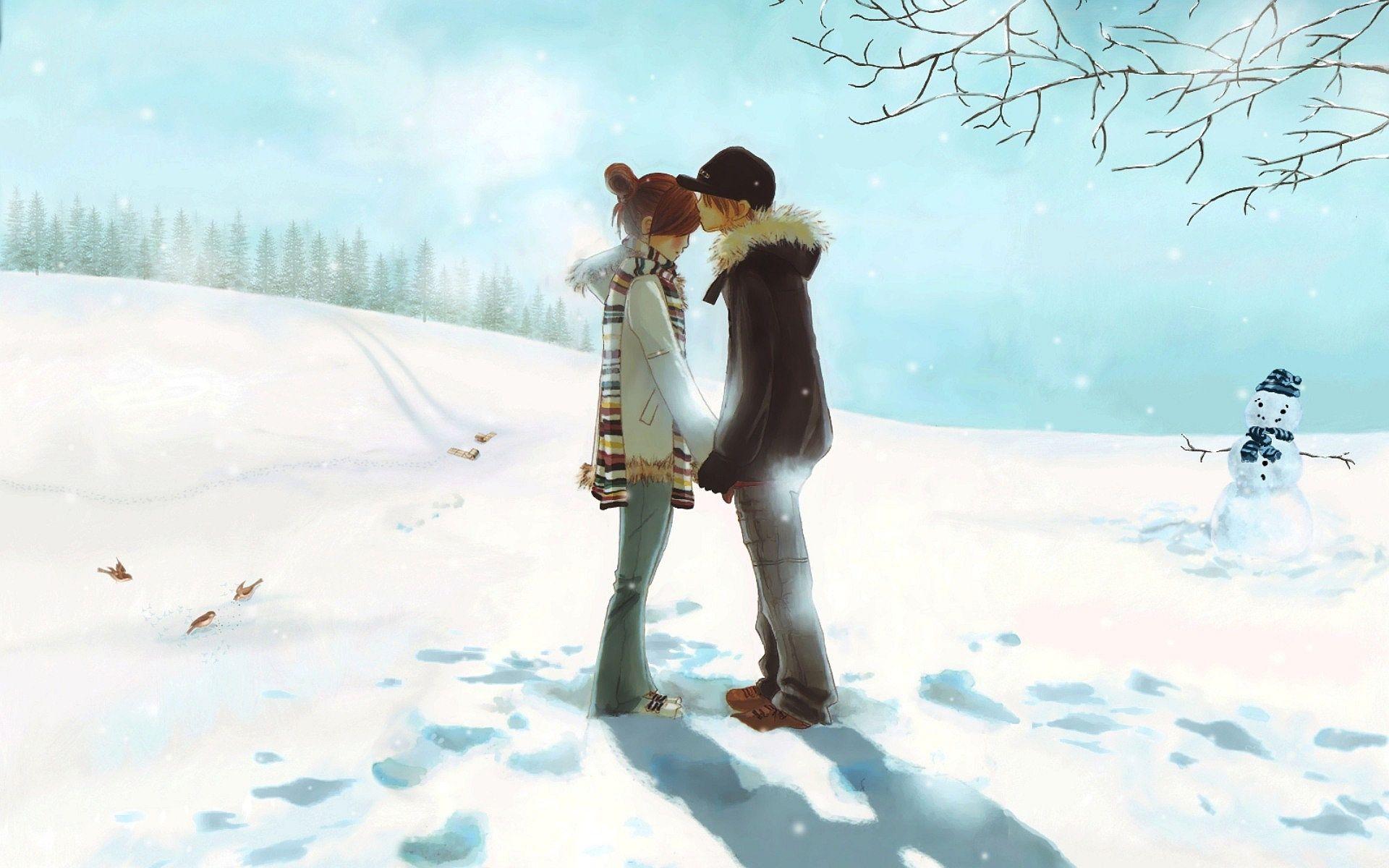 Anime Love Couple Kiss HD Wallpaper Amazing Pinterest