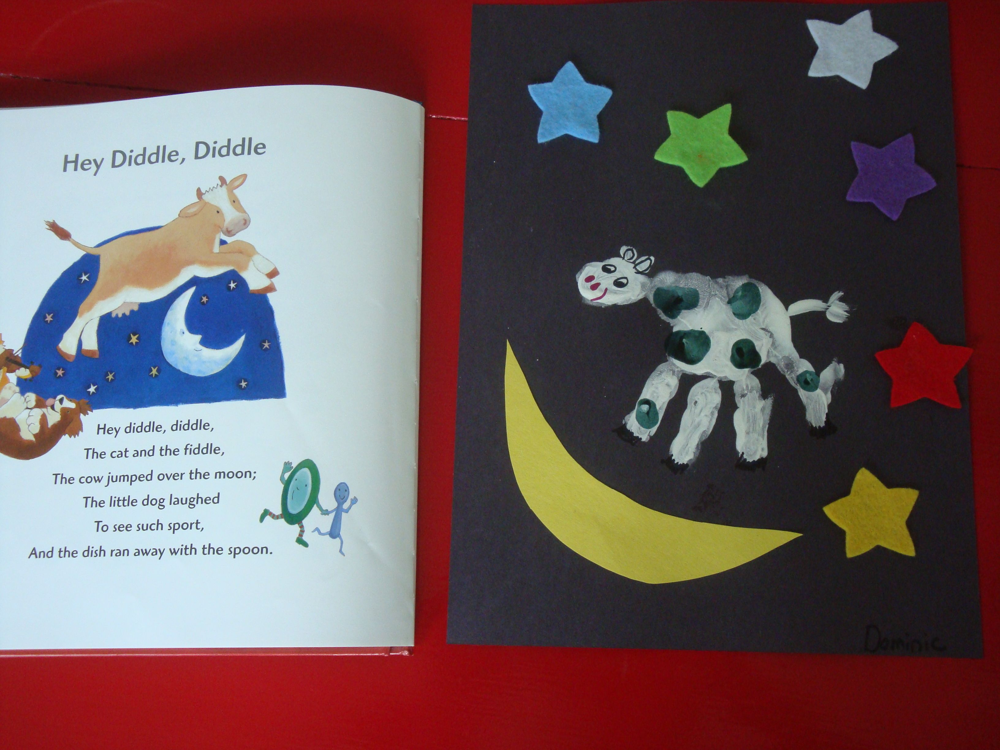 The Cow Jumped Over The Moon Counting Amp Color Review Nursery Rhyme Month