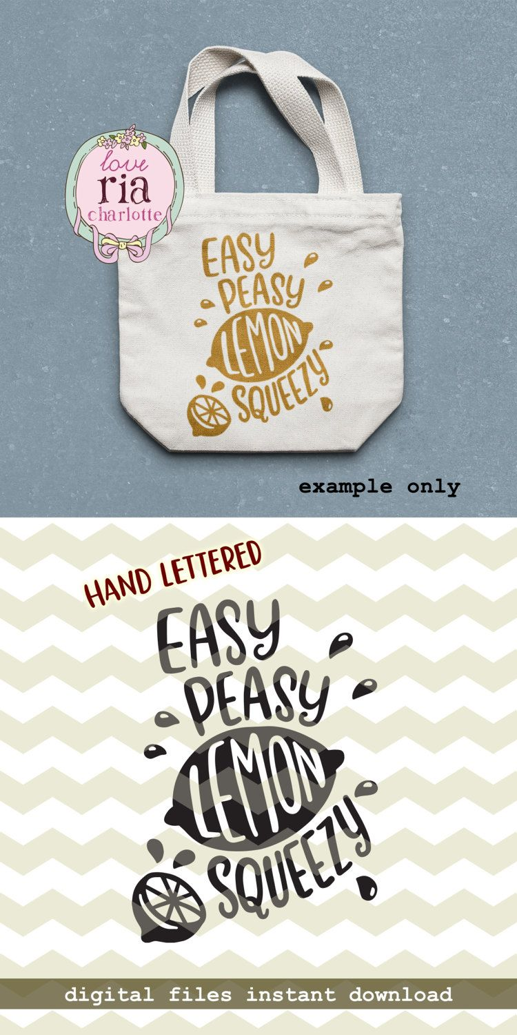 Easy peasy lemon squeezy, fun funny quirky summer hand