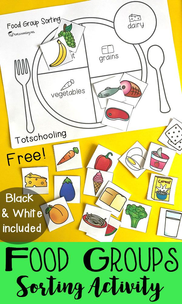 Teach Kids About Healthy Eating with a Food Group Sorting