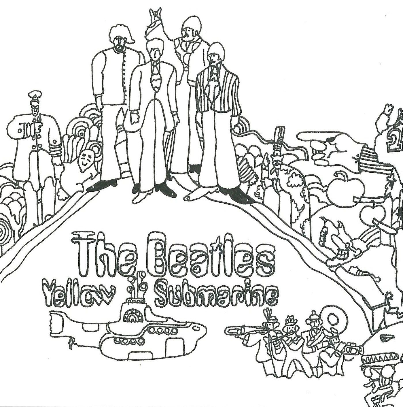 The Beatles Coloring Pages