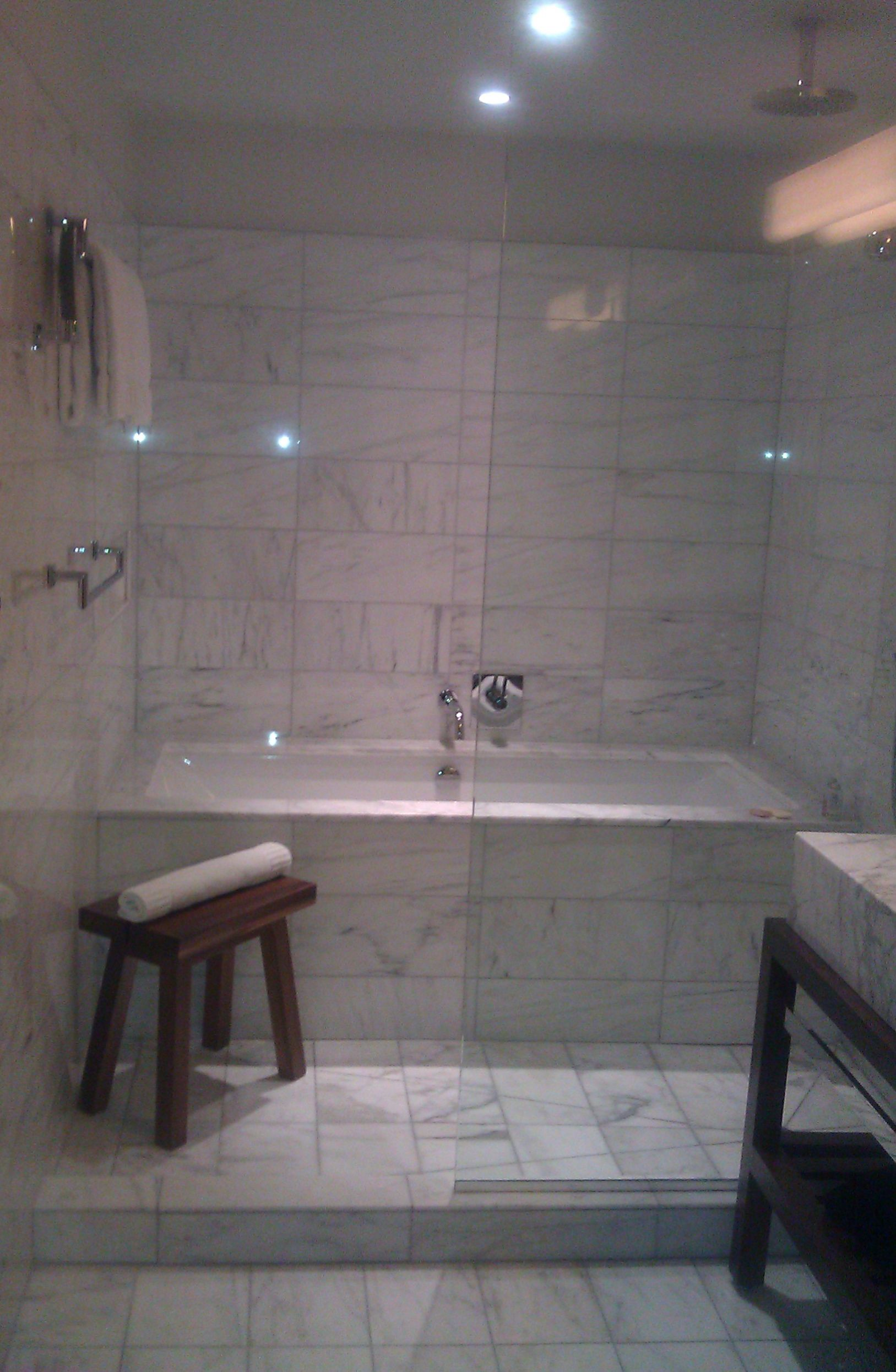 Tub With Walk In Shower Replace Bathroom Reno