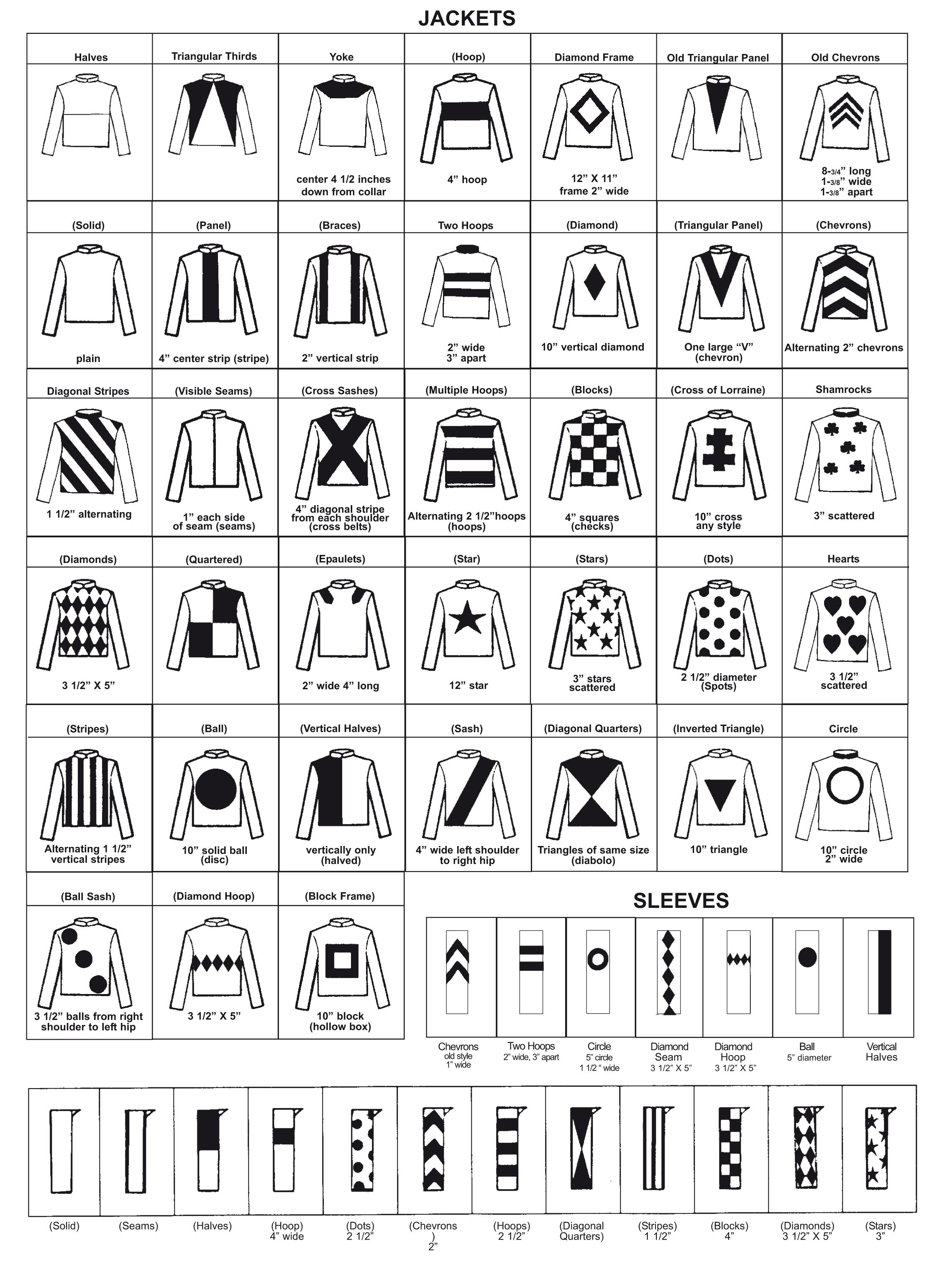 Resin Jockey Silks Order Form