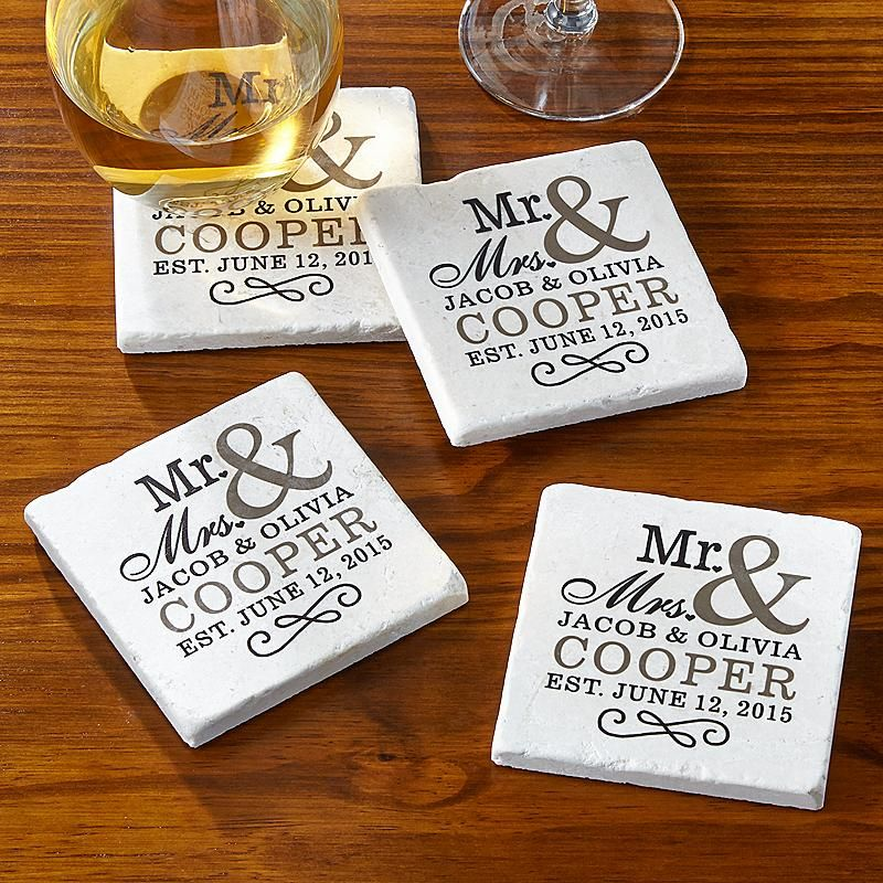 Happy Couple Tile Coasters Tile coasters, Coasters and