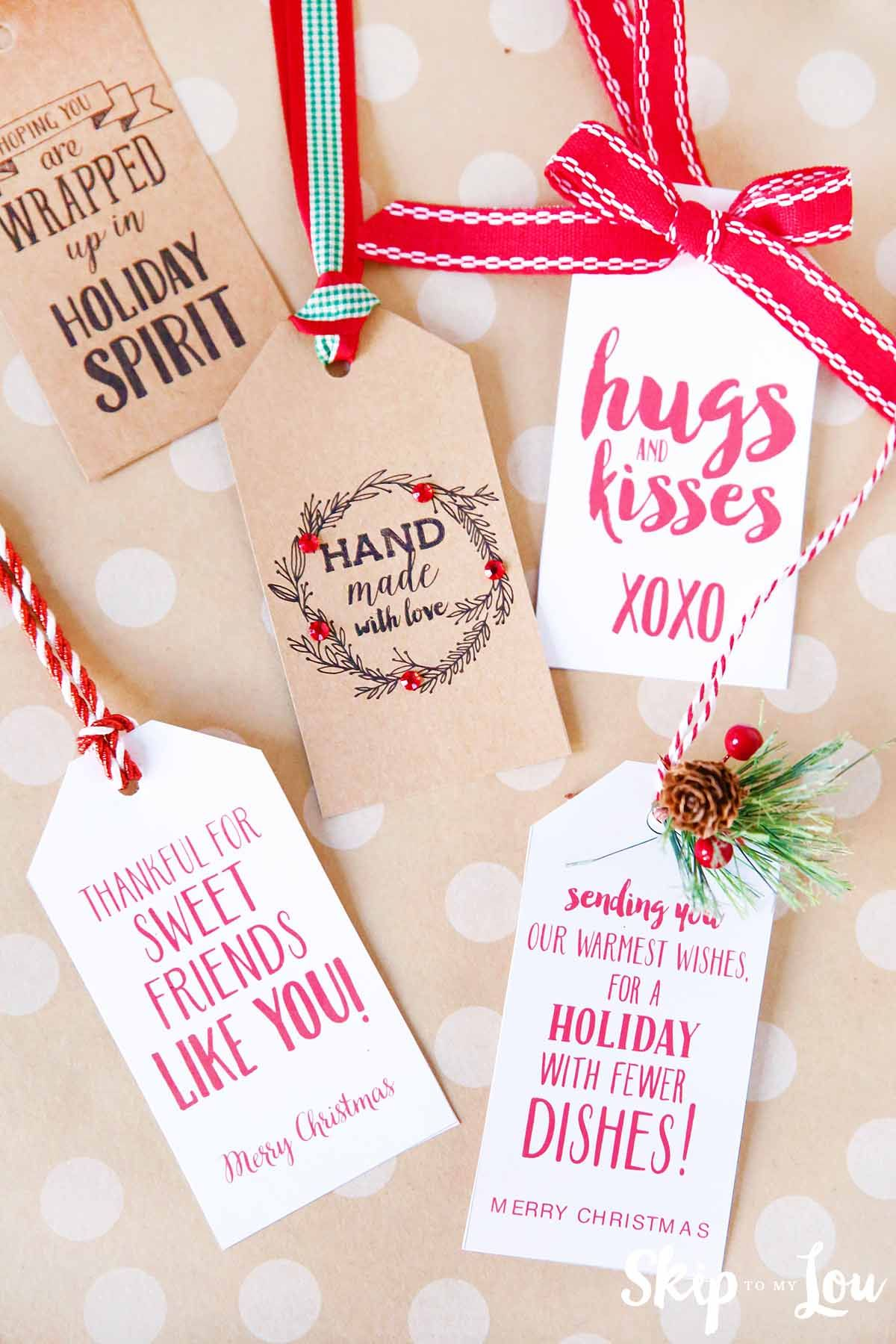 printable gift tags with cute sayings Holidays