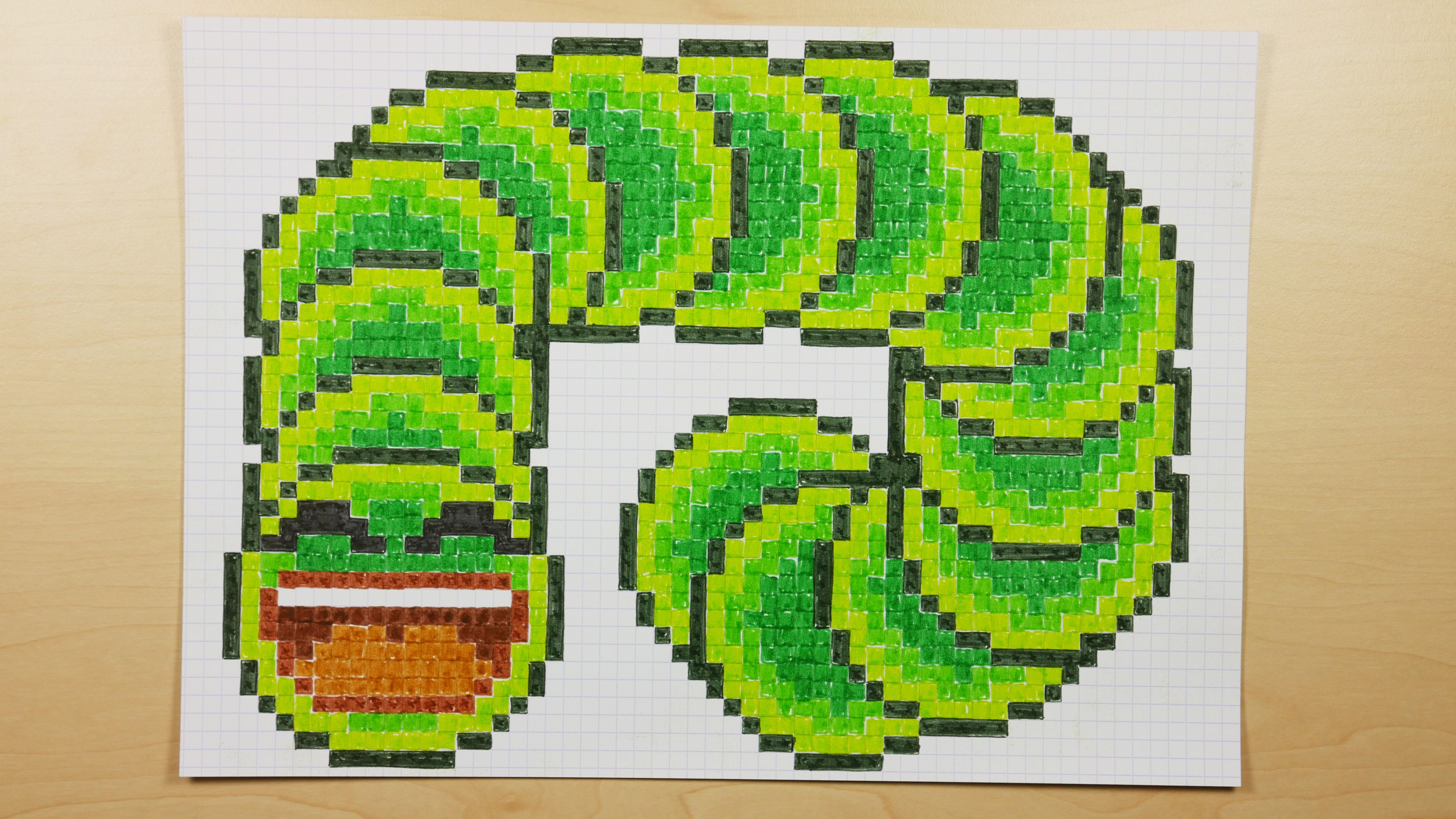 How to Draw a Video Game Slither.io Jelly Snake Pixel