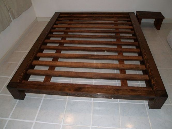 Queen Size Bed Frame For A Comfort Sleep Elegant Wooden Style