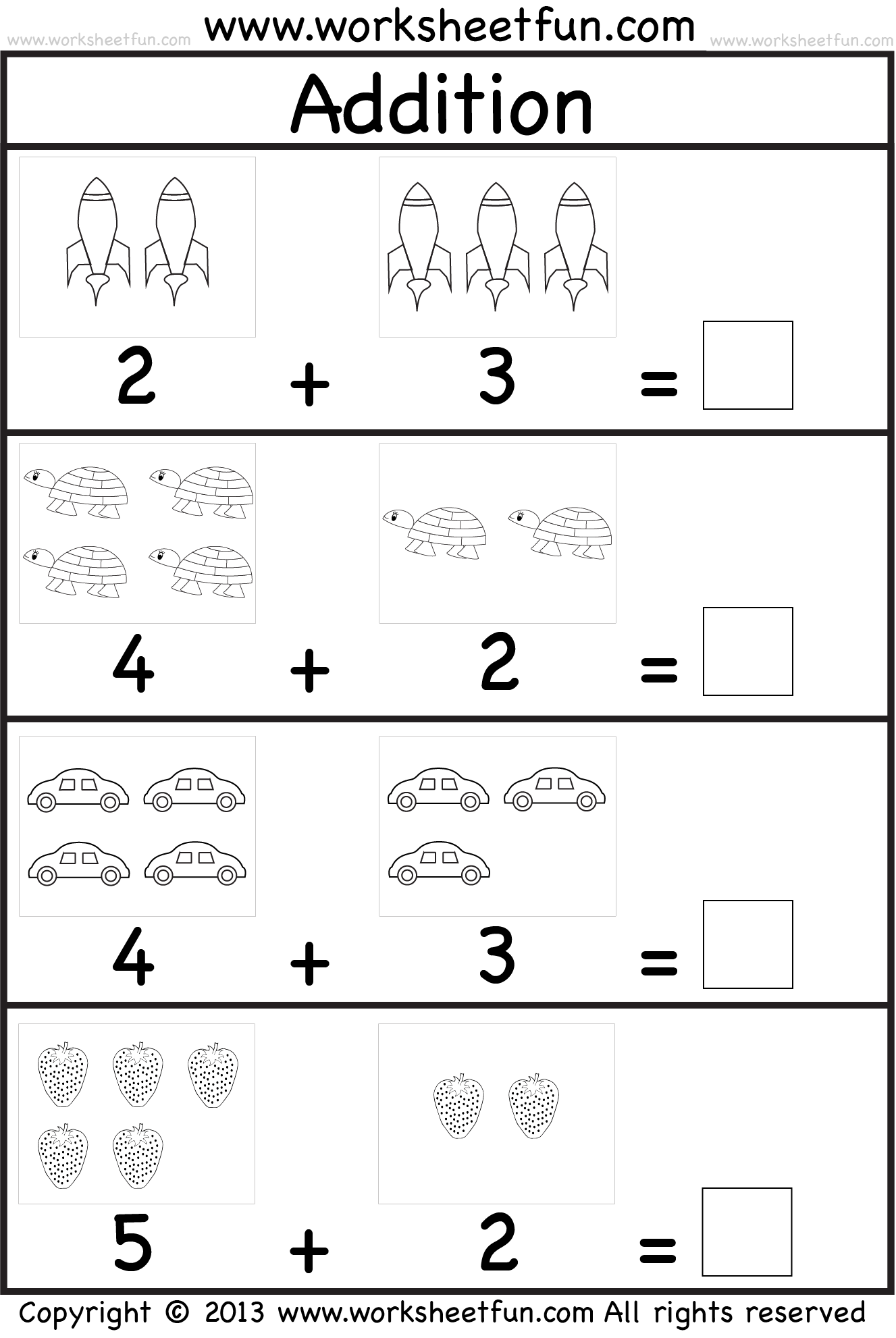 Addition Worksheet This Site Has Great Free Worksheets For Everything From Abc S To Math