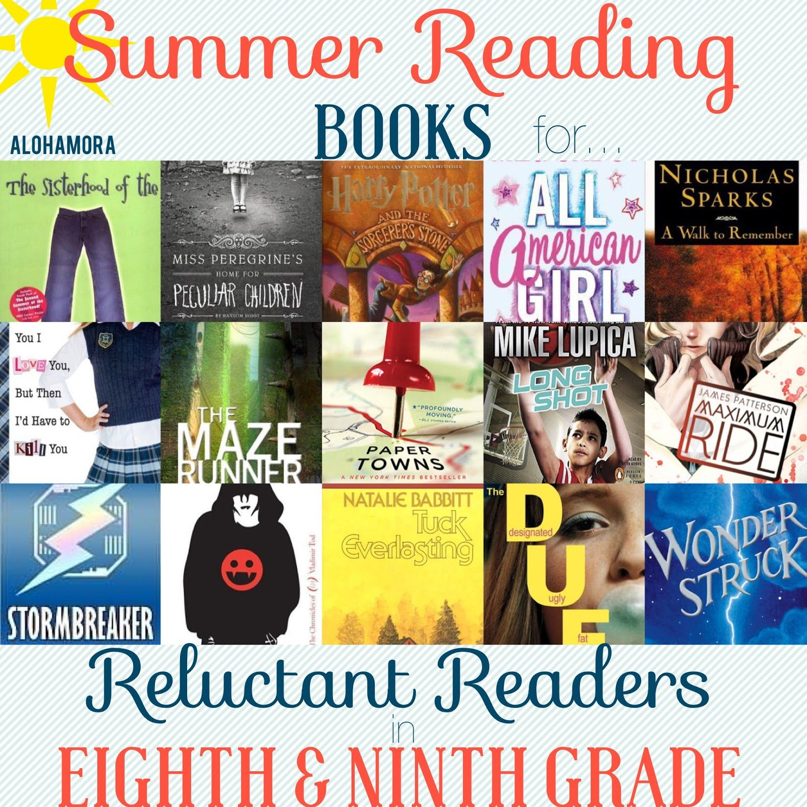 Summer Reading Book Lists For Reluctant Readers In 8th And
