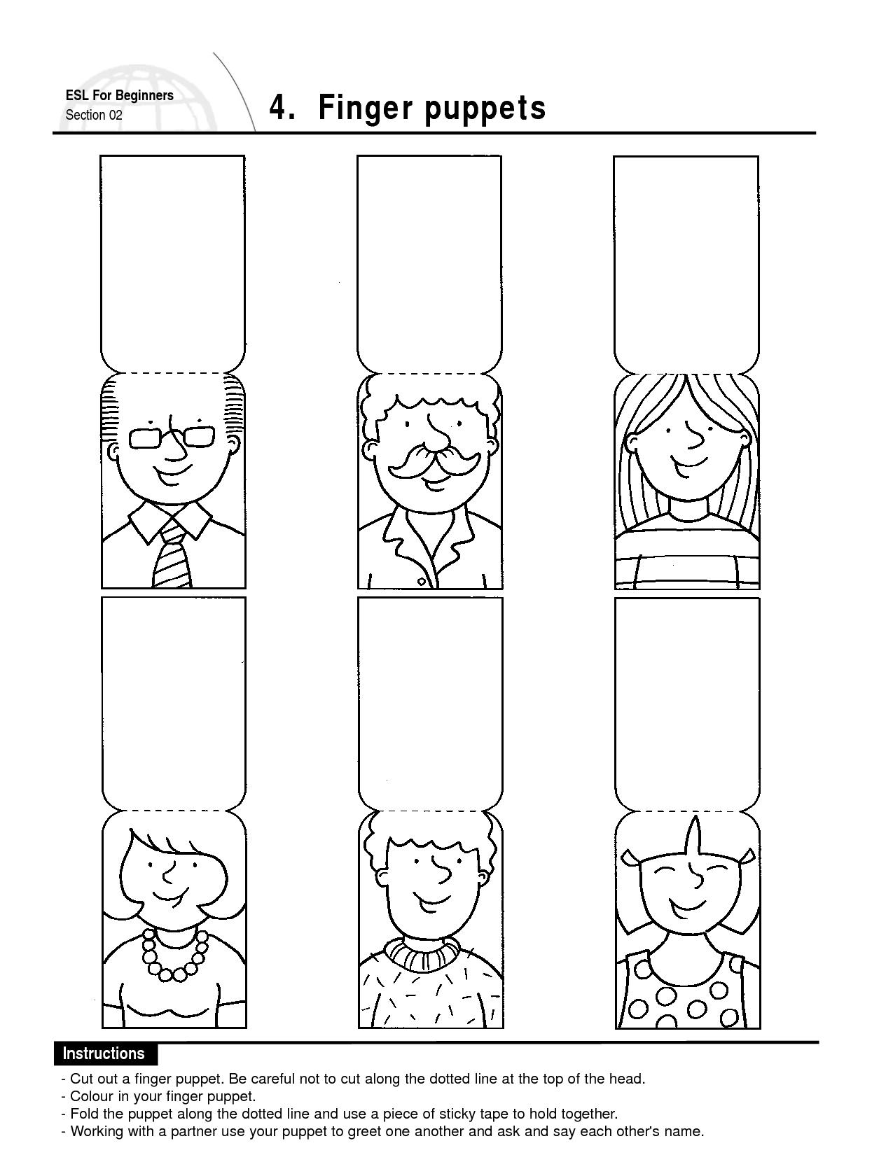 Finger Puppets Family