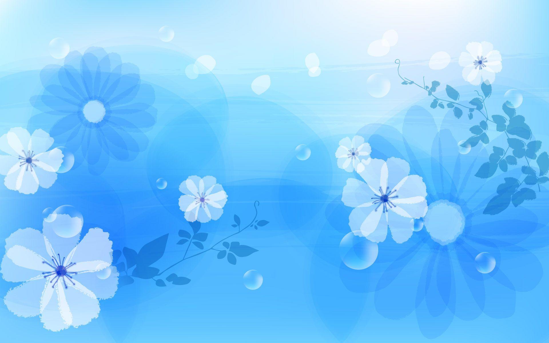 Flower on Blue Wallpaper Desktop Wallpaper Wallpaper