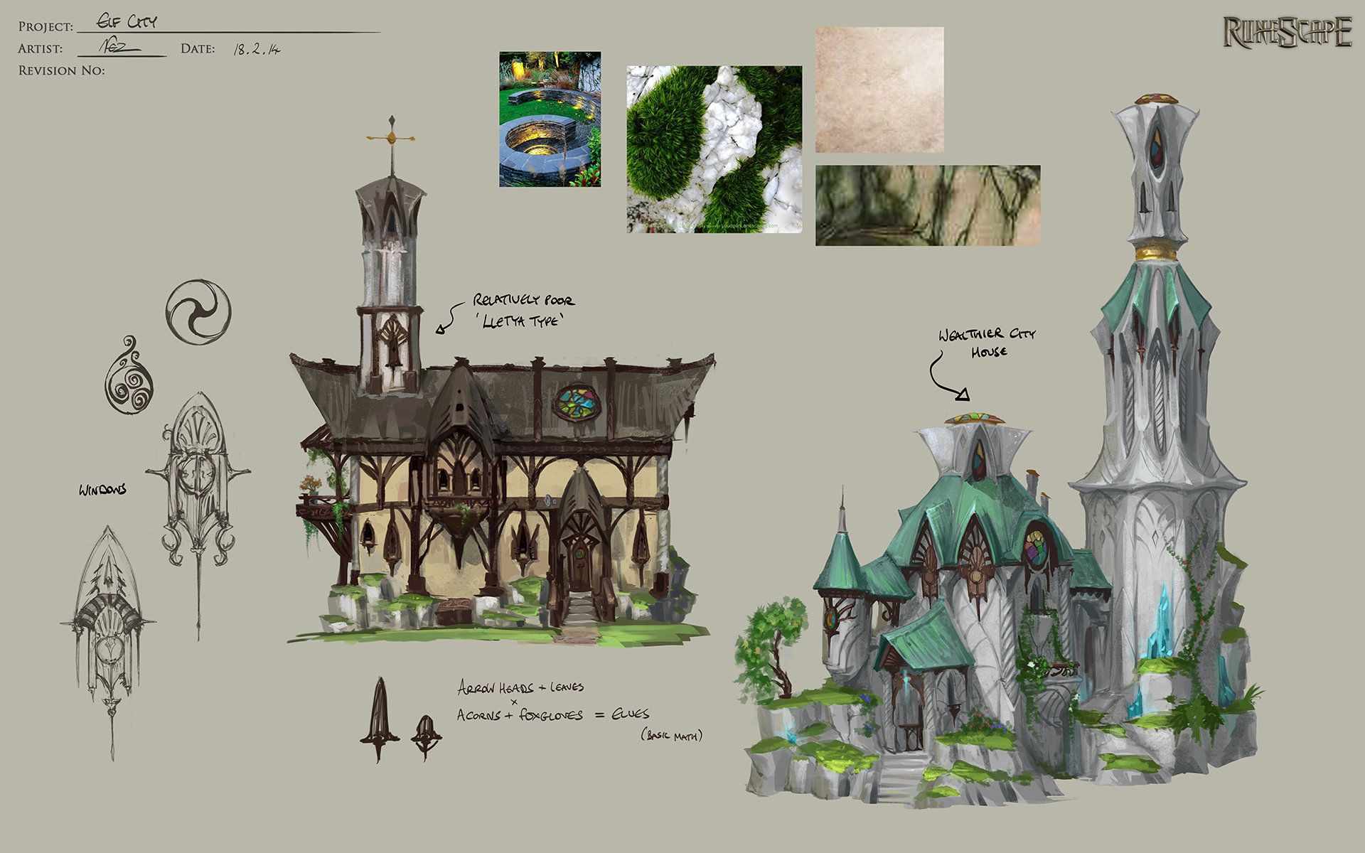 ArtStation Elf Buildings , Neil Richards Fantasy