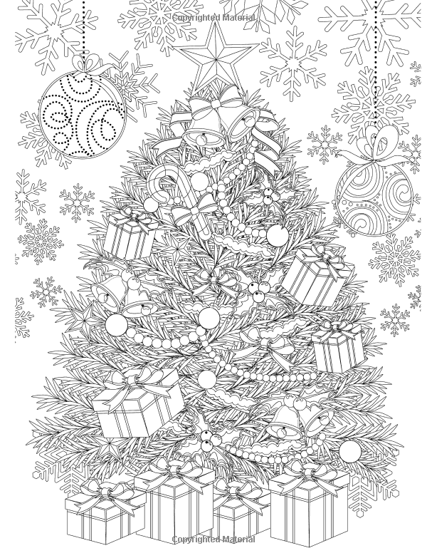 Adult Coloring Book Magic Christmas for Relaxation