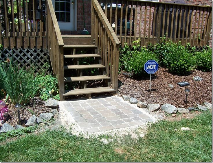 Patio Pavers For Deck Landing