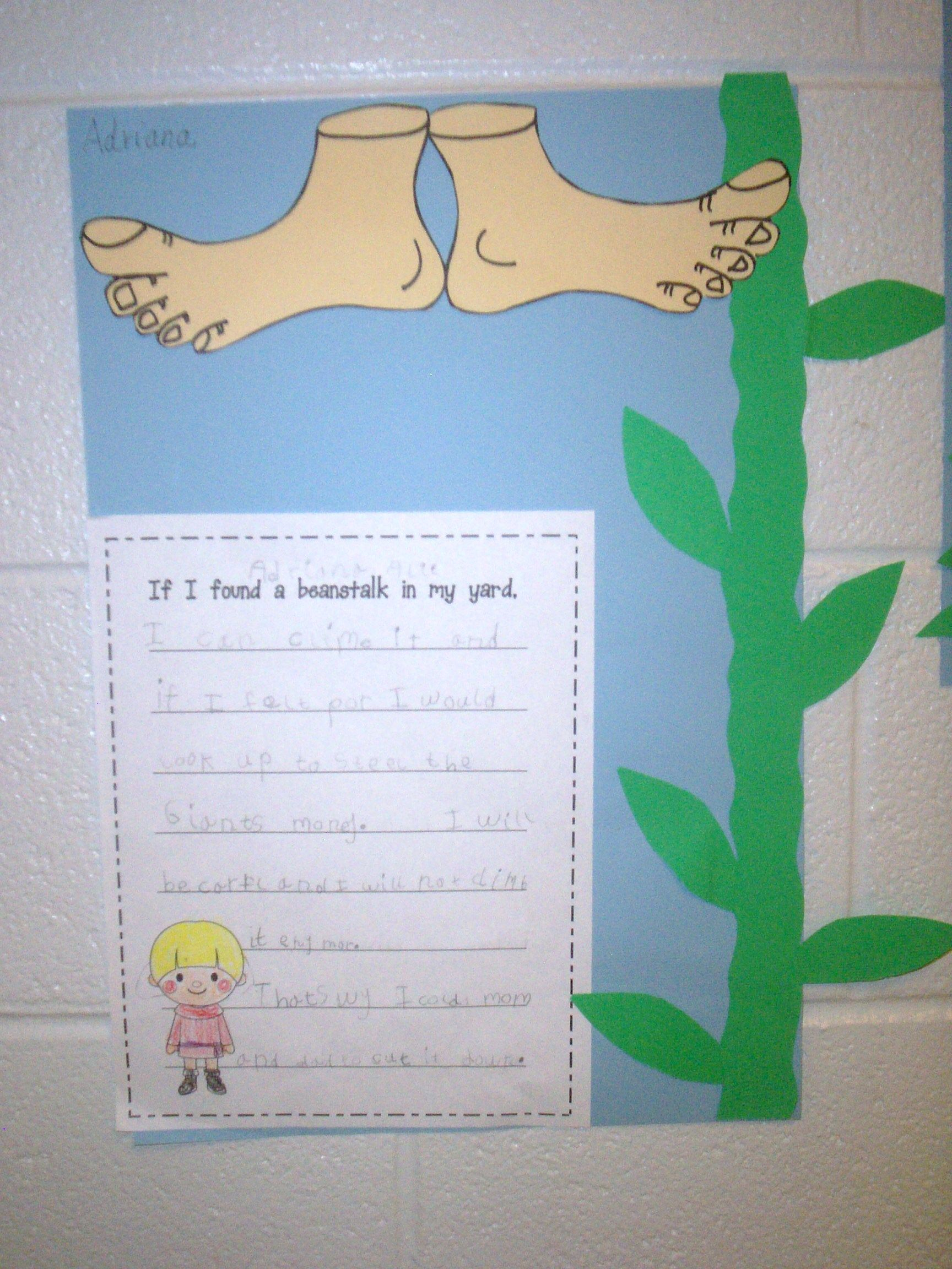 Jack And The Beanstalk Writing