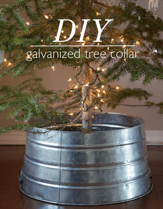 DIY Galvanized Tree Collar. ([dandee]) Holidays