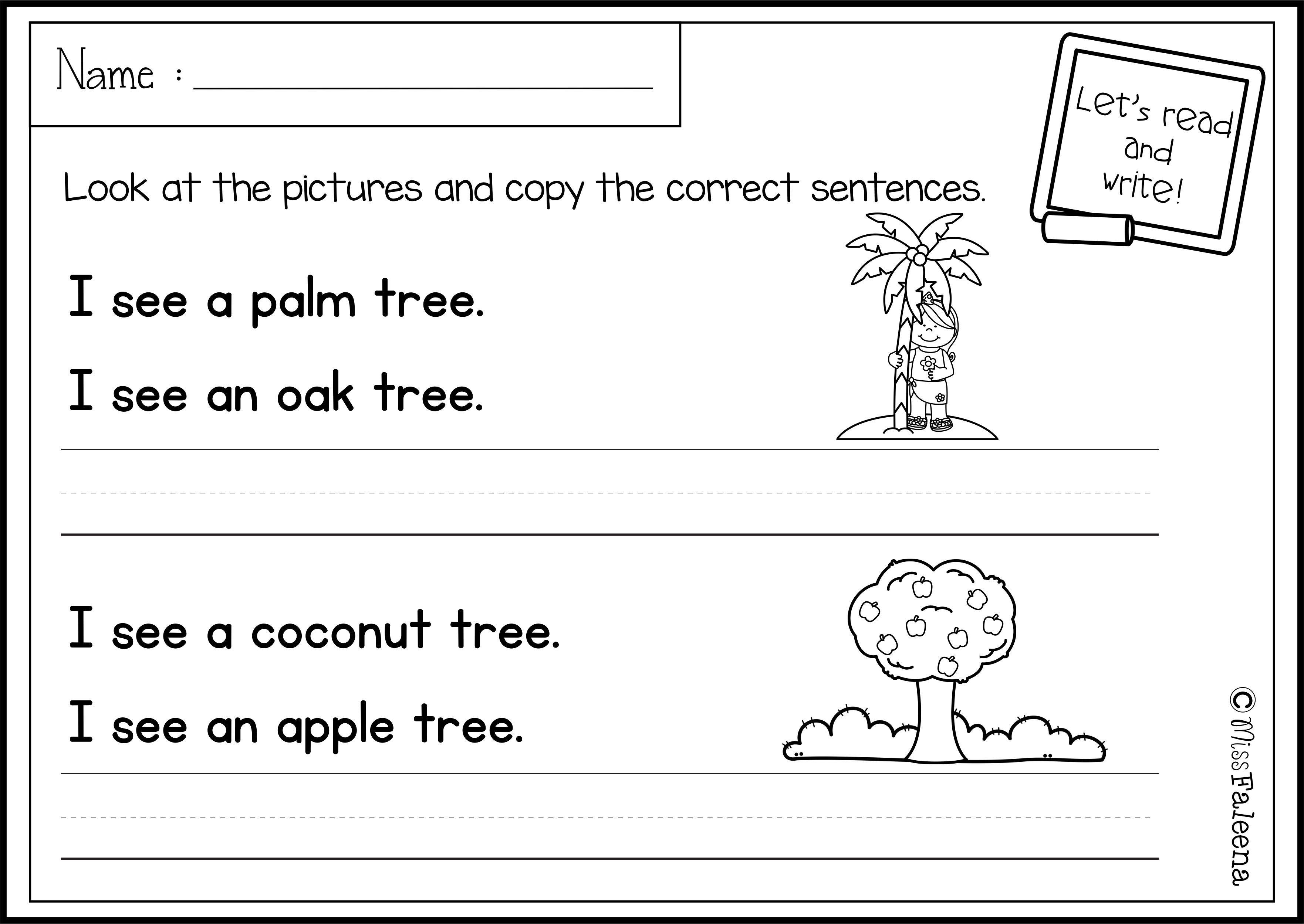 July Sentence Writing