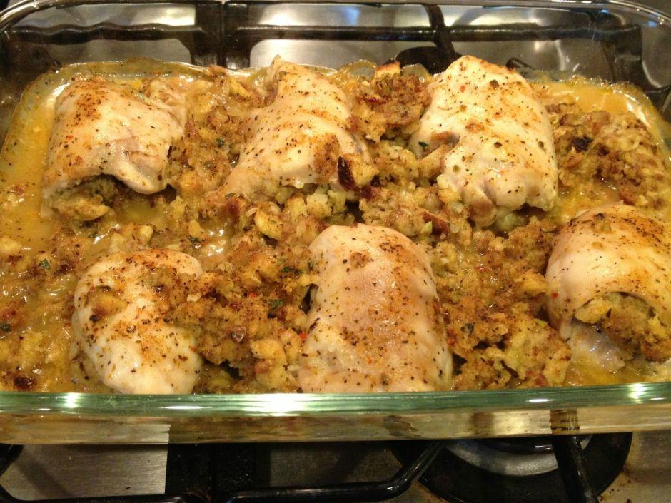 Stuffed Chicken Thighs | Recipe | Chicken thighs, Chicken ...