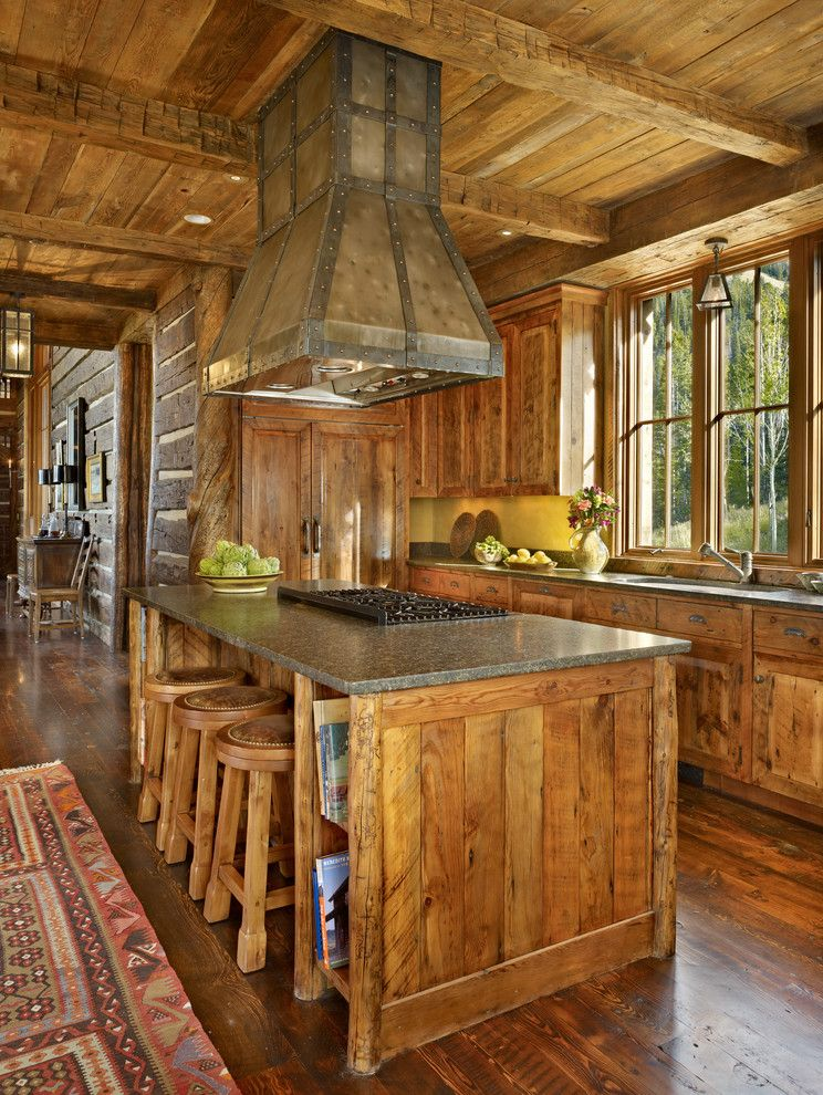 Custom Kitchen Islands with Cooktops rustic kitchen