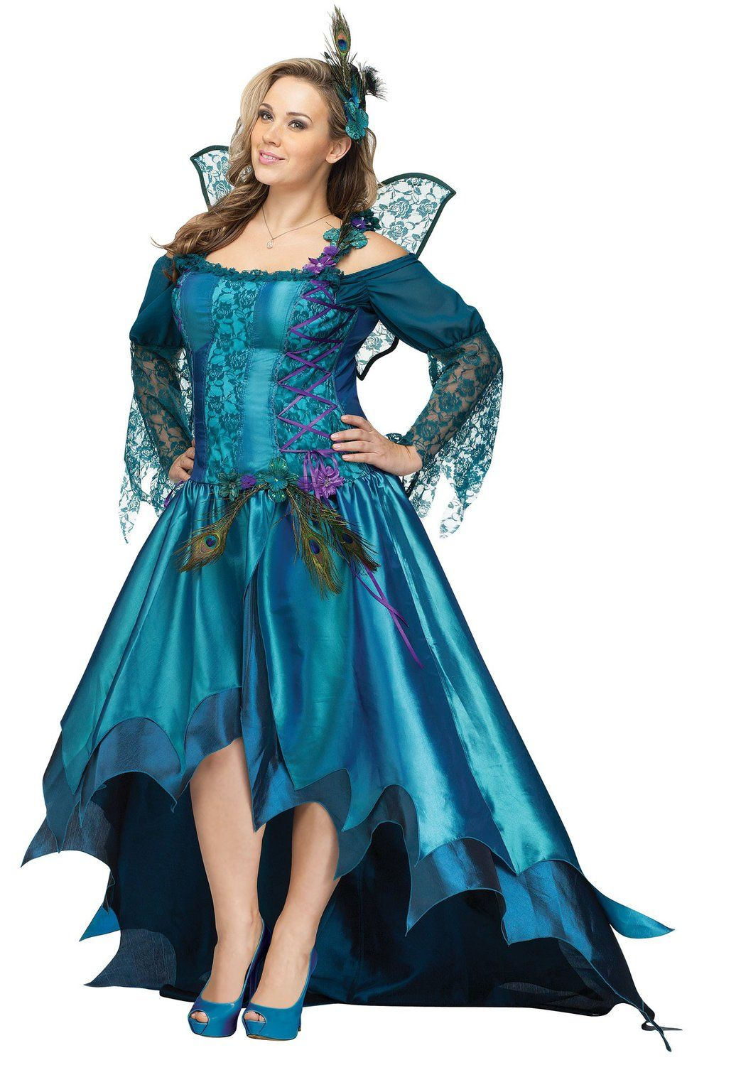 Elegant Peacock Fairy Plus Size Costume Fairy Costumes