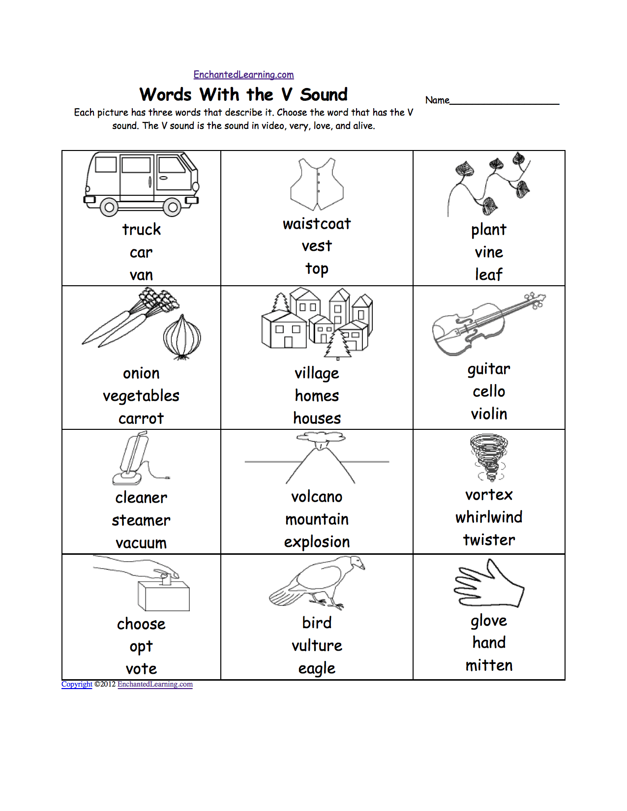 pre k worksheets Letter V Alphabet Activities at
