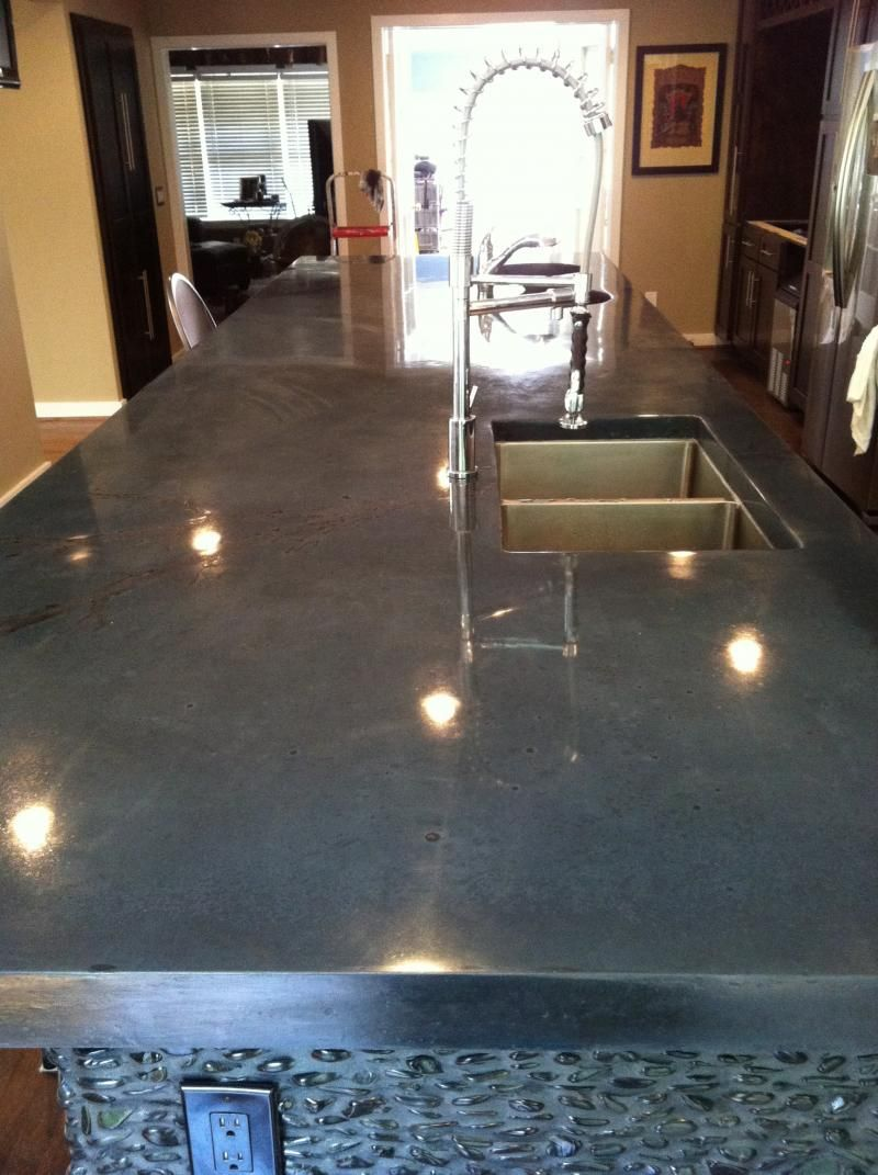 Polished Concrete Countertops On Pinterest White Concrete Countertops Modern Spanish Decor