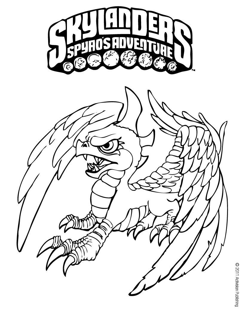 Color Online 4 Kids Coloring Pages Pinterest Skylanders