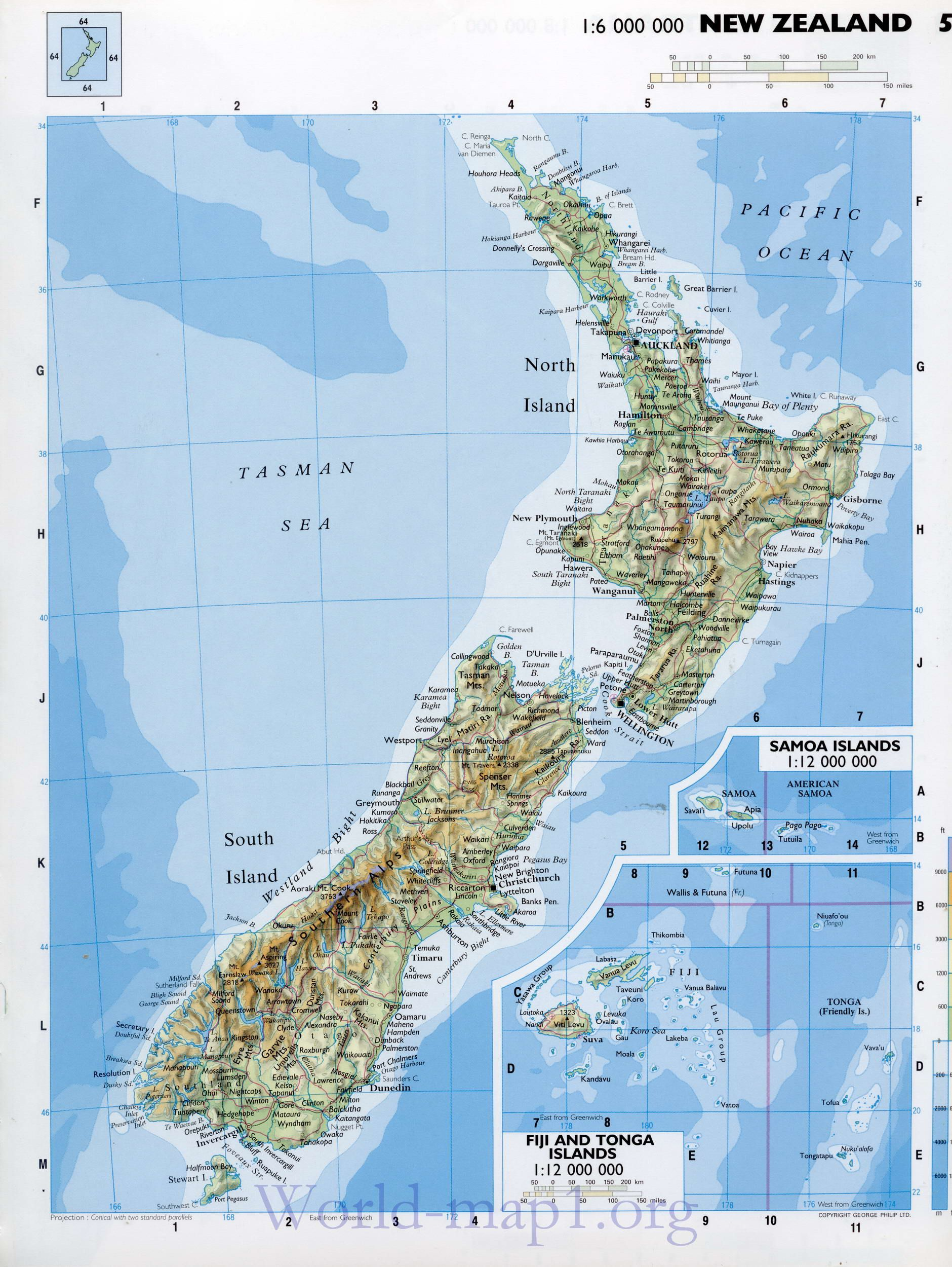 Detailed New Zealand Maps