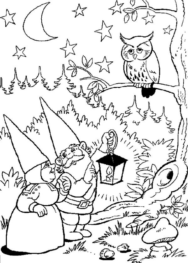 coloring page David the Gnome David the Gnome party