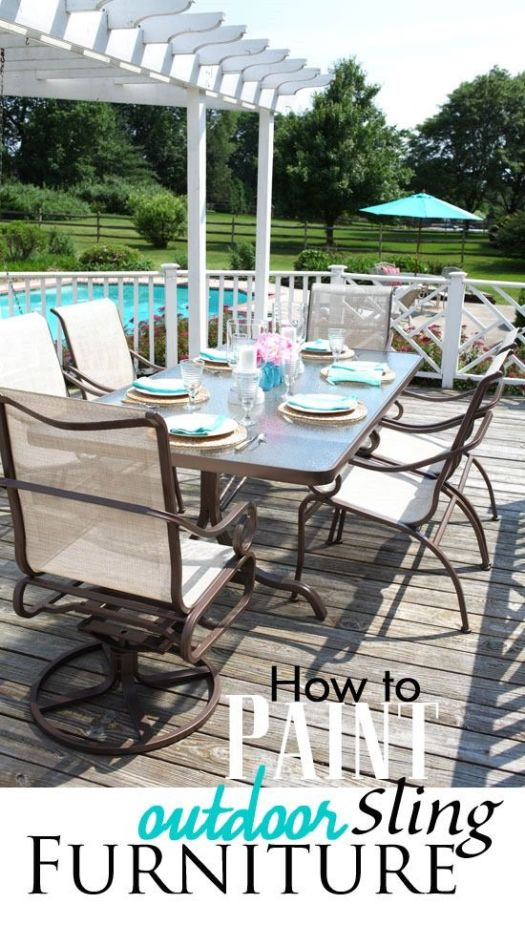 How To Paint Outdoor Sling Furniture So It Will Last For Years I Did This Set 3 Ago And Still Looks Great